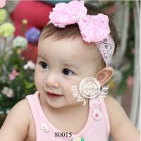 (mix order)Chiffon flower hairband lace child wig hair band baby hair accessory hair band baby headband