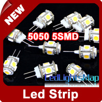Mini G4 5050 SMD 5 LED Pin Lamp Bulb Light Warm White For Cabinet, RV, Boat EMS Free Shipping Wholesale 200pcs/lot