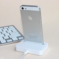 1pcs free shipping Dock Charger(Base Dock Charger )support IOS 8 for iPhone 5 /iphone 5S iTouch 5 Black/white