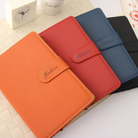 Classic commercial popper nubuck leather notepad notebook