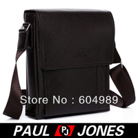 Free Shipping PJ Men's Hot Fashion Business Polyurethane + Real Leather Shoulder Bag Messenger GZ305