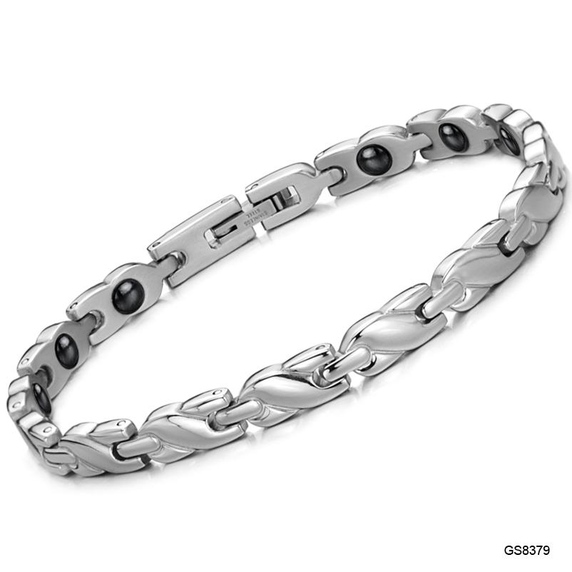 Vintage JEWELRY Power Energy Balance Magnetic Women Bracelet Tourmaline Bracelets With Magic Stone Women Jewelry 8379(China (Mainland))