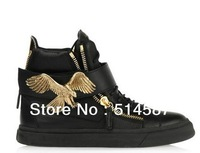 Newest 2013 large size women sneakers top Italian design super leather casual shoes woman euro 45
