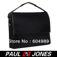 Free Shipping PJ Men's Hot Fashion Business Polyurethane + Real Leather Shoulder Bag Messenger Tote GZ308