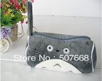 10pcs/Lot My Neighbor Totoro Grey Totoro Plush Pencil Case Box Cosmetic Bag Pouch-large Totoro plush pencil box