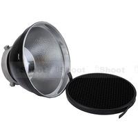 iShoot 18cm Metal Lame Shade Reflector Softbox Diffuser + Honeycomb Grid for Bowens Mount Studio Strobe Flash