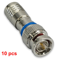 10 BNC COMPRESSION COAX CONNECTOR RG59 CABLE CCTV MALE