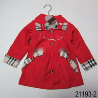 Retail New Brand Baby Girl's Warmer Jacket/Girl's Outerwear/Children's Windbreaker/Kids Cotton cloak/manteau