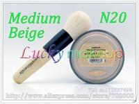 1pcs N20 MEDIUM BEIGE with powder brush,Bare Escentuals bareMinerals Original Foundation Broad Spectrum SPF15 8g Click/Lock