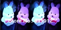 cute rabbit led night light RGB holiday led lamp AG13*3PCS led lighting for home decor 20pcs/lot wholesale