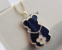 Bright star sweater chain Little Bear four clover long necklace for women fashion garments accessories