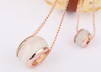 High quality Opal sweater chain long necklace for women fashion garments accessories
