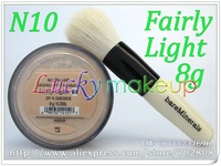 1pcs N10 fairly light with powder brush,Bare Escentuals bareMinerals Original Foundation Broad Spectrum SPF15 8g Click/Lock