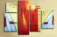 Frameless Modern hand painted oil painting abstract painting on canvas home decor