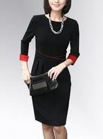 New 2014 Spring Autumn Women Plus Size 5XL Elegant Casual Slim OL Dress Big Size XL XXL XXXL XXXXL XXXXXL Maxi Dresses