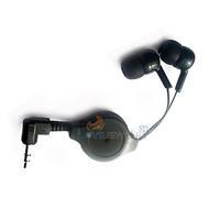 LY4# Retractable InEar Earbud Earphone Headphone for mp3 Schwarz