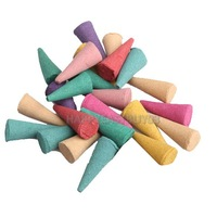 H3#R 25 Mix Stowage Colorful Fragrance Triple Scent Incense Cones Potpourri