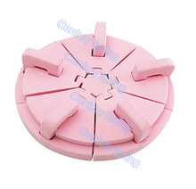 Pink Sponge Nail art salon tools tips display practice stand holder nail work table(China (Mainland))