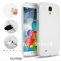Free shipping Soft silicon Clear Transparent Gel Anti-skid TPU dustproof plug case for Samsung Galaxy S4 i9500