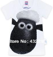Free shipping for 2PCS/lots TX95 Shaun the Sheep Children's new summer short-sleeved T-shirt kid  short character T-shirt