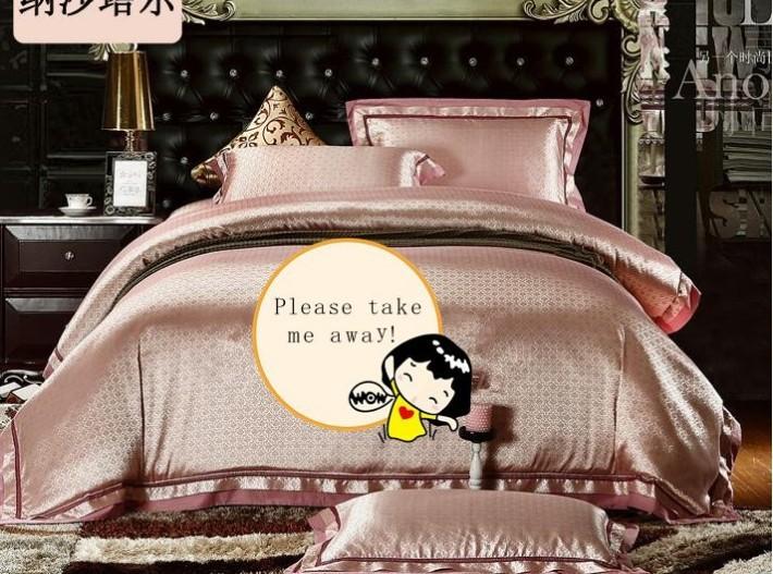 nobre 6 pcs jacquard folha de cama/roupa de cama roupa de cama doona capa de edredão set/comforer/cama conjunto 4 pcs/colcha/(China (Mainland))