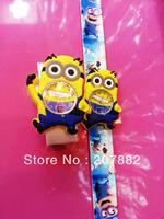 100pcs/lot! 2013 Fashion Despicable Me Digital Slap Watch Minion Cartoon Children Wristwatch Silicone Watch A2900 Free Shipping