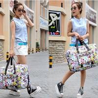 Free Shipping Travel Bag Tote Bag Summer Canvas Big Bag Large Capacity Fashioned Sweet Women's Handbag Crossbody