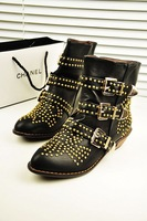 New arrival fashion street fashion boots rivet decoration pointed toe Women motorcycle boots