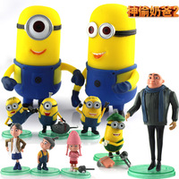 Despicable me milk 3d soybean capsule small doll minions
