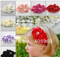 flower buds kids children hair jewelry baby headband baby hair accessories  dropship