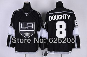 Cheap Los Angeles Kings Hockey Jerseys #8 Drew Doughty Home Black Authentic Men's LA Kings Jersey Stitched Jerseys