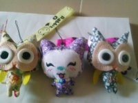 DIY creative button doll mobile phone pendant cute animal