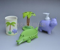 100% Guarantee Home decoration resin bathroom Home resin bathroom suite animal series set rb0127 roco