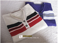 2011 men's clothing spring and autumn sweater V-neck sweater male