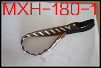 2013 cheap and fast Free shipping brown leather white stitching seam  leather football headbands/wholesale
