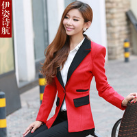 2013 women's autumn slim elegant fashion woolen suit female outerwear