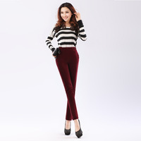 Plus size plus size elastic waist elastic basic pencil pants high-elastic comfort