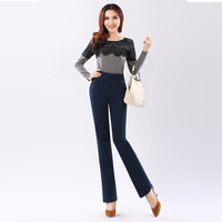 2013 autumn slim flare trousers plus size comfortable casual pants straight pants trousers