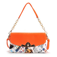 2012 women's chain handbag color block handbag tassel bucket bag fashion all-match women's handbag