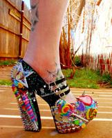 women's Noble rhinestone the bride wedding shoes   sweetheart honey rivet glitter rhinestone candy thick heel   performance