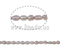 Free shipping!!!Rice Cultured Freshwater Pearl Beads,2013 Womens, purple, A, 2-3mm, Hole:Approx 0.8mm, Length:Approx 13.3 Inch