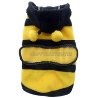 H3#R Dog Cat Pet Supplies CuteBumble Bee Dress Up Costume Apparel Coat Clothes