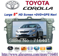 2 Din Car Dvd Player for Toyota Corolla (2006-2011) with Gps Navigation +4gb Card+car Camera +shipping Russian Special Line