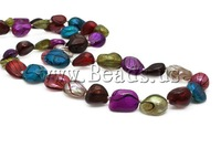 Free shipping!!!Natural Freshwater Pearl Necklace,Kawaii,, Cultured Freshwater Pearl, mixed colors, 10-11mm, Length:32 Inch