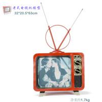 Hh handmade metal tv retro finishing machine model at home decoration gift decoration