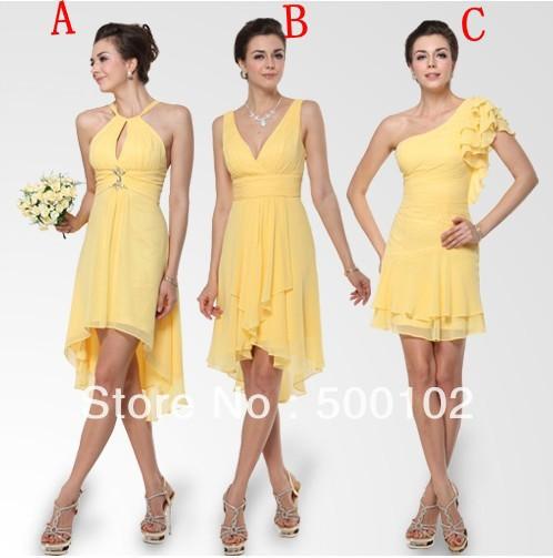 wedding party yellow dresses