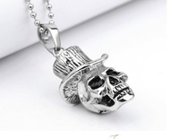 Titanium steel character Mr Skull pendant jewelry wholesale men