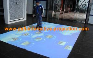 Interactive floor system and wall system with 74 effects for advertising,