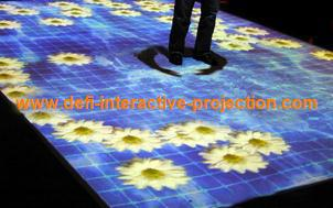 Interactive floor system and wall system with 30 effects for product launch, advertising,