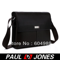 Free Shipping PJ Men's Hot Fashion Business Polyurethane + Real Leather Shoulder Bags Messenger GZ314